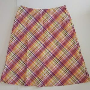 Talbot's Multi-color Plaid Skirt